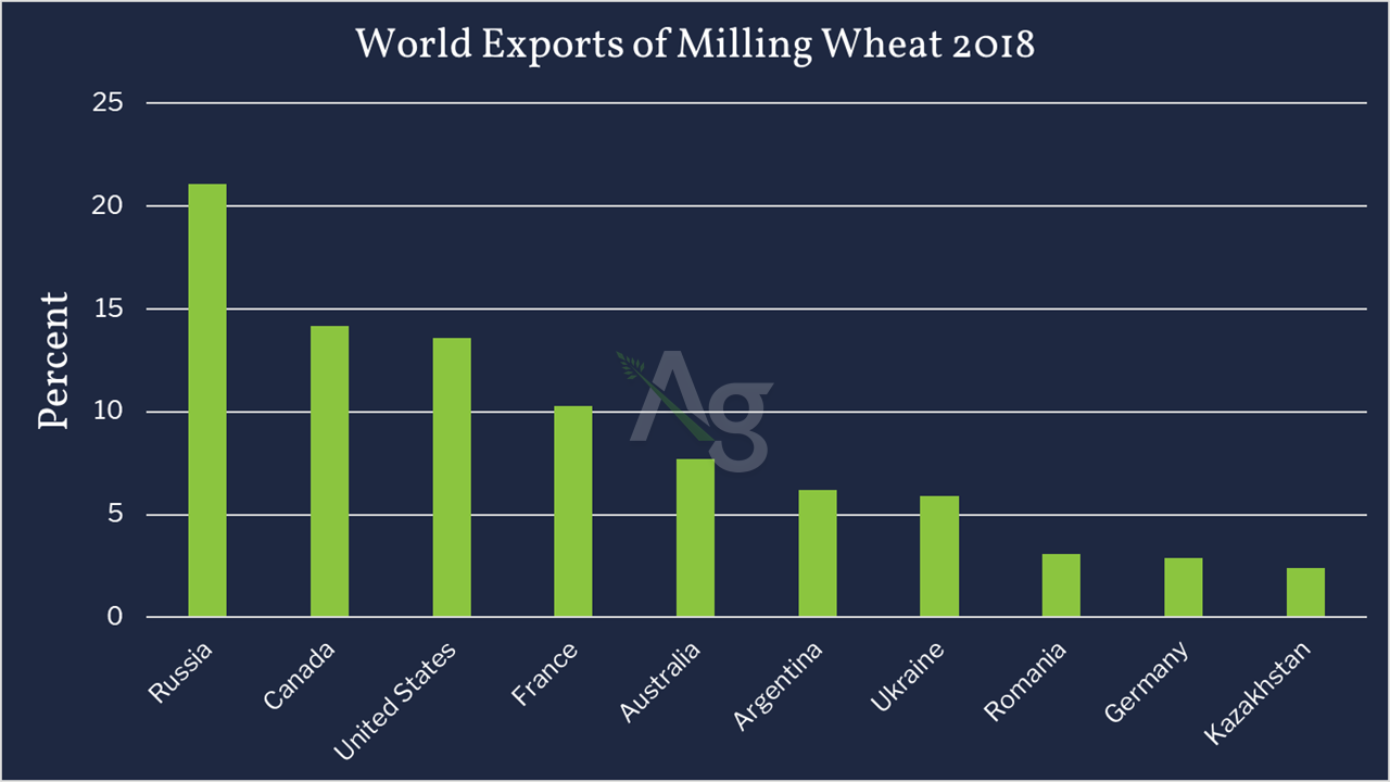 Top 10 Wheat Exporting Countries